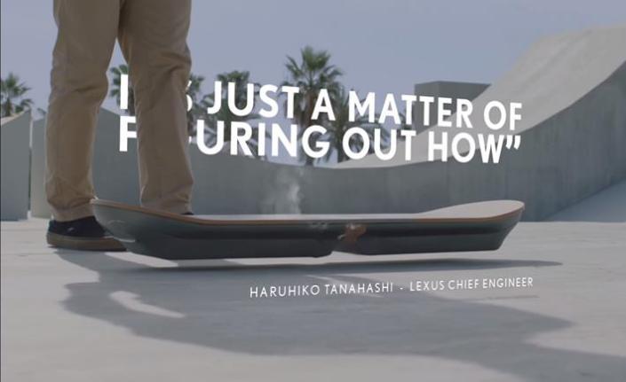 Lexus Ciptakan Skateboard Terbang